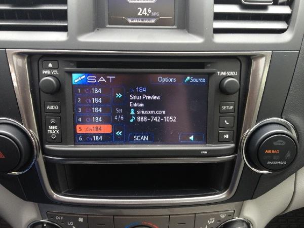 2013 Toyota Highlander Receives The Satellite Radio Treatment