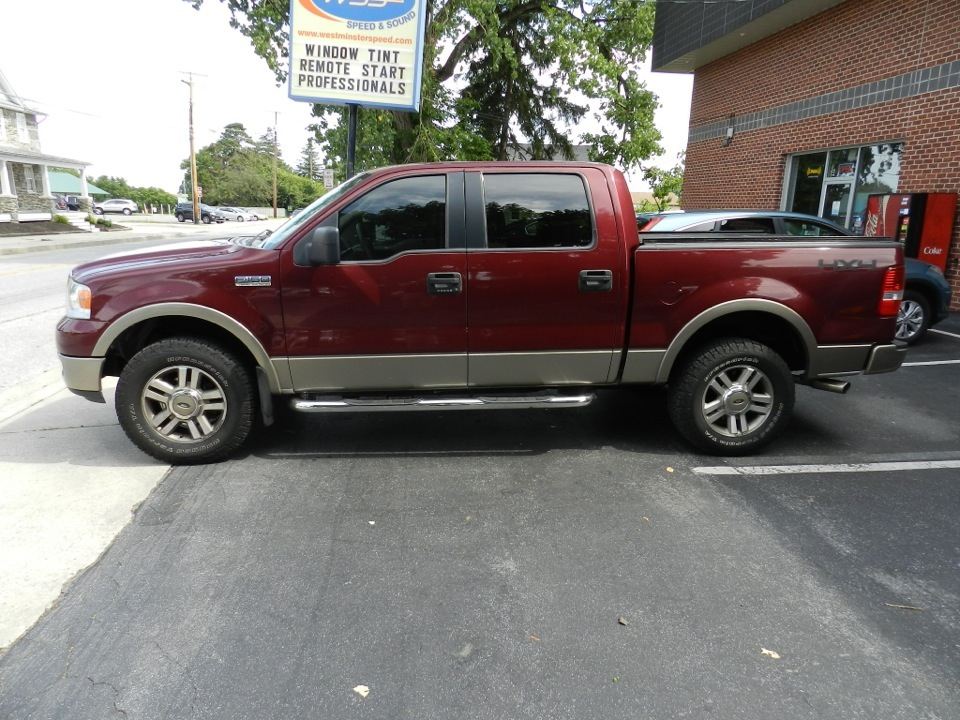 Ford F150 Window Tint Matches Front Windows To Factory