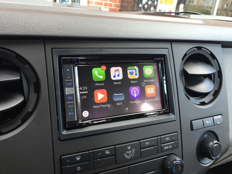 carplay upgrade via pioneer 6100nex in 2016 ford f250. Black Bedroom Furniture Sets. Home Design Ideas